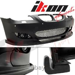 04-10 E60 5-Series H-Style Front Bumper Lip Fits Aftermarket M5 Style Bumpers