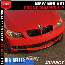 06-11 BMW E90 E91 3 Series H Style Front Bumper Lip For M Bumpers Only
