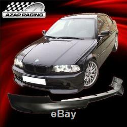 99-03 H Style PU Front Bumper Lip Spoiler Fits BMW E46 3-Series 2Dr Coupe