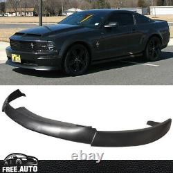 CV Type 2 Style Black Front Bumper Lip For 05-09 Ford Mustang V8
