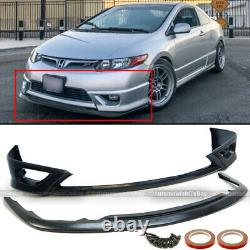Fit 06-08 Civic 2Dr Coupe HF-P Style Upper & Lower Unpainted Front Bumper Lip