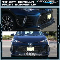 Fit 17-19 Toyota Corolla Type S GT Style Front Bumper Lips Spoiler
