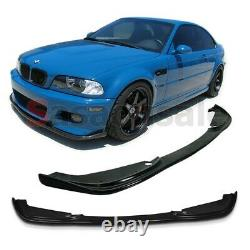 Fit for 01-06 BMW E46 2DR M3 ONLY H-Style Front Bumper Add-on Lip Polyurethane