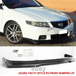 Fits 04-05 Acura TSX P1 Style Front Bumper Lip Unpainted PU