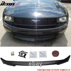 Fits 05-09 Ford Mustang V6 3C Style Front Bumper Lip Chin Spoiler Unpainted PU