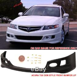 Fits 06-08 Acura TSX OE Factory Style Front Bumper Lip Spoiler PU
