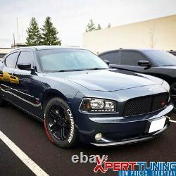 Fits 06-10 Dodge Charger OE Style Front Bumper Lip Unpainted Black PU