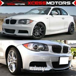 Fits 07-11 BMW E82 135i Only H Style Unpainted Front Bumper Lip Splitter PU