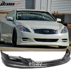 Fits 08-14 Infiniti G37 2Dr Coupe TS Style Front Bumper Lip Spoiler PU