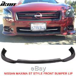 Fits 09-15 Nissan Maxima ST Style Front Bumper Lip Unpainted PU