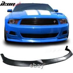 Fits 10-12 Ford Mustang V6 Only S Style Unpainted Front Bumper Lip Spoiler PU