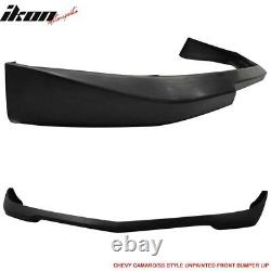 Fits 10-13 Chevy Camaro (1LT LS LT V6 Only) SS Style Front Bumper Lip PU