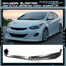 Fits 11-13 Hyundai Elantra MD 4Dr Only OE Style PP Front Bumper Lip