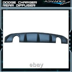 Fits 12-14 Dodge Charger SRT OE Style PP Rear Lip Bumper Valance Diffuser