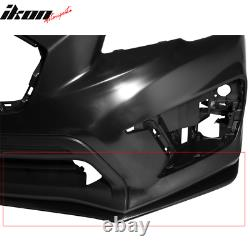 Fits 15-20 Subaru WRX STI OE Style Front Bumper Lip Spoiler Carbon Look ABS