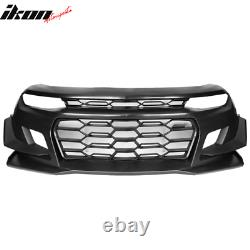 Fits 16-18 Chevy Camaro 1LE Style Front Bumper Cover Unpainted Black PP