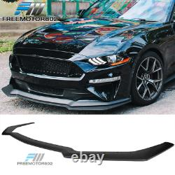 Fits 18-20 Ford Mustang GT Style Add on Front Bumper Splitter Lip Black PP