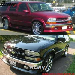 Fits 98-04 Chevy S10 GMC Extreme Xtreme Style Front Bumper Lip Spoiler Urethane