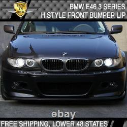 Fits 99-06 BMW E46 H Style Front Bumper Lip Aftermarket M Bumpers Only PP
