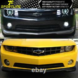 Fits Chevy Camaro 2010-2013 PU Front Bumper lip SS Style Black
