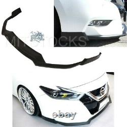 Fits For 16-17 Nissan Maxima ADD-ON Front Bumper Lip Spoiler Body Kit PU