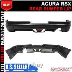 For 02-04 Acura RSX Coupe 2Dr Mugen Style Rear Lip With Led Brake Light