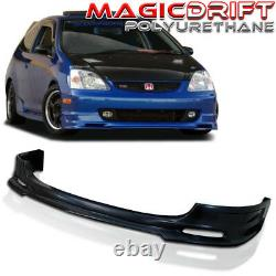 For 02-05 HONDA CIVIC SI Hatch EP EP3 FRONT BUMPER ADD-ON LIP SPOILER Urethane