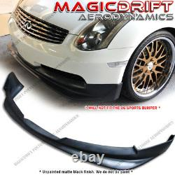 For 03 04 05 06 INFINITI G35 COUPE GT STYLE FRONT BUMPER LIP SPOILER URETHANE