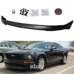 For 05-09 Mustang V6 Only 3c Pu Black Urethane Front Chin Bumper Lip Spoiler