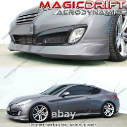 For 10 11 12 HYUNDAI Genesis 2DR COUPE MS Style Front Bumper Lip Body Kit