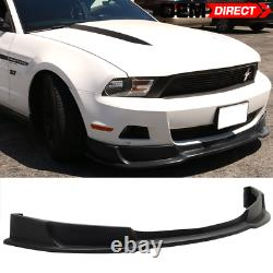 For 10-12 Ford Mustang V6 Style Front Bumper Lip PU