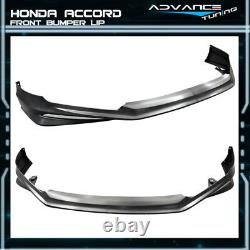 For 13-15 Accord 4Dr MD Front + Rear Bumper Lip + Side Skirts Unpainted PP