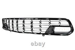 For 14-19 Corvette C7 With Camera Z06 PAINTED CARBON FLASH Front Bumper Grille