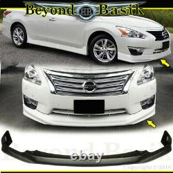 For 2013-2015 NISSAN ALTIMA Front+Rear Bumper Chin lip+Side Skirts 4pc Body Kit
