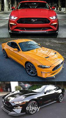 For 2018-2020 Mustang Gt Performance Style Pp Add-on Front Bumper Lip Splitter