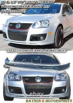 Ground Effect V-Style Front Lip (Urethane) Fits 05-10 VW GTI