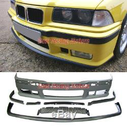 M3 Style Front Bumper Cover + Removable Lip Spoiler Fit 92-99 BMW E36 3-Series