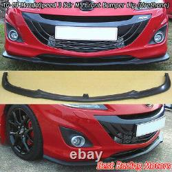 MS Style Front Bumper Lip (Urethane) Fits 10-13 Mazda MazdaSpeed 3 5dr