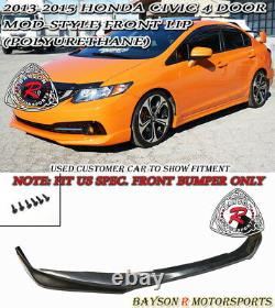 Mod-Style Front Lip (Urethane) Fits 13-15 Civic 4dr US-Spec Only