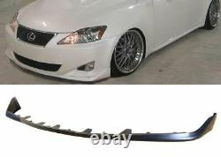 OE STYLE GROUND EFFECT PU BLACK POLY FRONT BUMPER LIP For 06-08 LEXUS IS250 IS35
