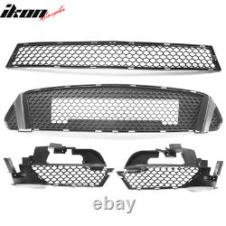 Replacement Front Lip & Grille & Fog Light Cover for 15-17 Mustang GT350 Bumper