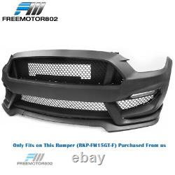 Replacement Lip Grille Fog Light Cover For 15-17 Ford Mustang GT350 Front Bumper